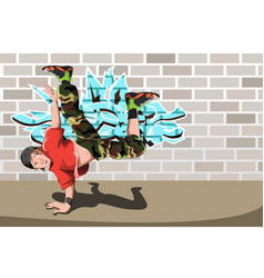 hip-hop dancer vector image