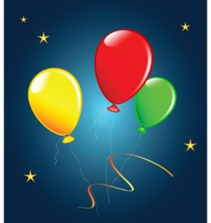 holiday balloons vector image