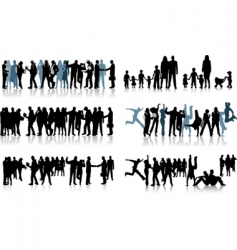 huge crowd vector image vector image