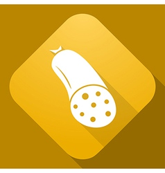 icon of Sausages with a long shadow vector image