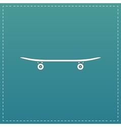 icon of skateboard vector image