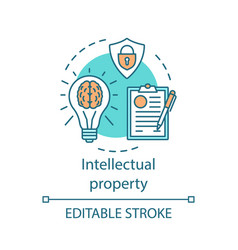 Intellectual property concept icon vector