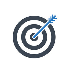 Keyword targeting glyph icon vector