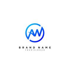 Letter aw logo design vector