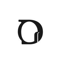 letter g d logo vector image