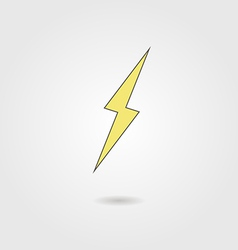 Lightning icon with shadow vector