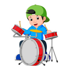 Little drummer cartoon vector