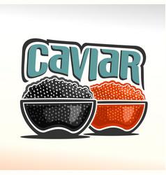 logo of caviar vector image