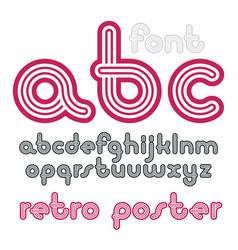 lowercase funky disco alphabet letters set trendy vector image