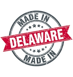 Made in Delaware red round vintage stamp vector