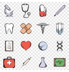 Medical set icons vector