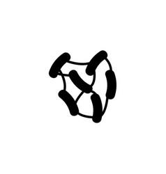 molecular network flat icon vector image