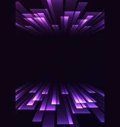 Multicolor overlap stripe rush in dark background vector
