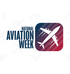 National aviation week holiday concept template vector