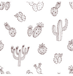 natural seamless pattern with monochrome hand vector image