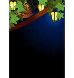 night tree vector image
