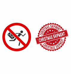 No mail courier icon with scratched christmas vector