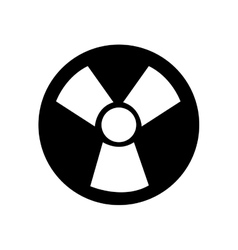 Nuclear energy symbol isolated icon vector