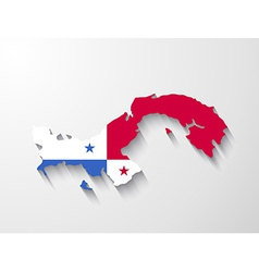 panama map with shadow effect presentation vector image