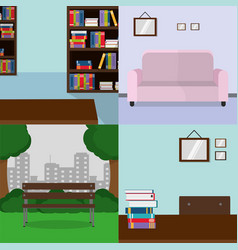 Places for reading design vector