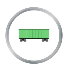 Railway carriage icon of for vector image