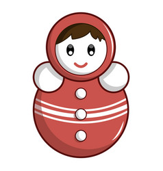 Red tumbler doll icon cartoon style vector