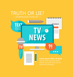 reporter flat infographic template vector image