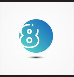 round symbol number 8 design minimalist vector image