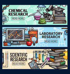 scientific research and laboratory sketch vector image