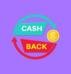Sign cash back vector