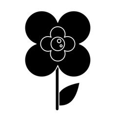 Silhouette buttercup flower natural vector