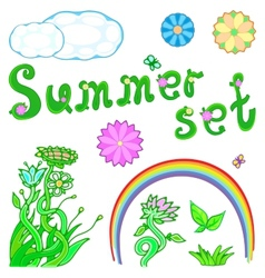 summer set for design vector image