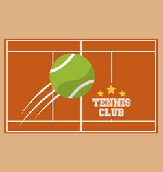tennis club court ball sport top view image vector image