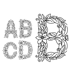 Title letters in floral style vector image