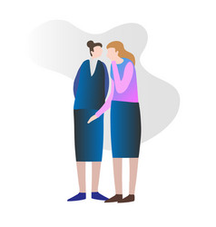 two female friends gossiping vector image