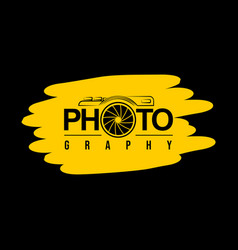 typography design photography vector image