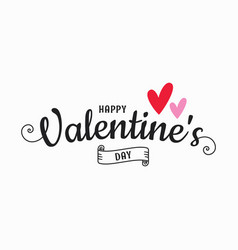 valentines day card valentines hearts on white vector image
