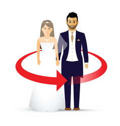 wedding couple as an icon vector image