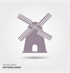 Windmill icon silhouette vector
