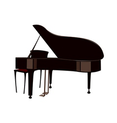 A grand piano vector image vector image