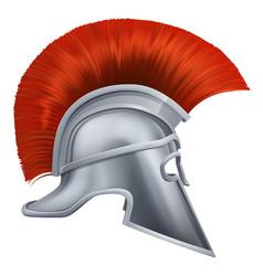 ancient greek warrior helmet vector image
