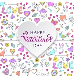 Colorful Valentine s card vector image
