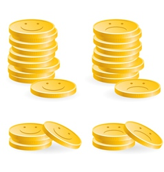 golden coins vector image vector image