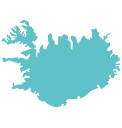 Map of Iceland vector image