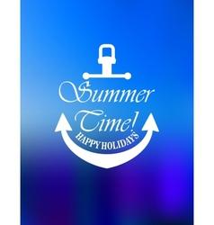 Summer time poster design vector image