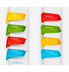 big collection of colorful origami paper banners a vector image
