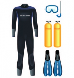 diving equipment vector image