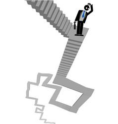 ladder businessman vector image vector image