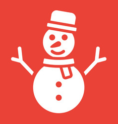 snowman glyph icon new year and christmas vector image vector image