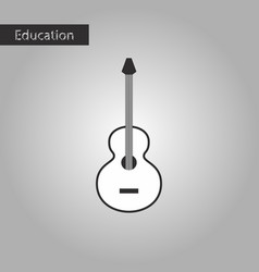black and white style icon guitar vector image
